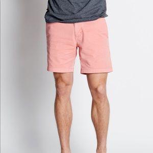 Kolby Salmon Pink Classic Zip Fly Chino Shorts